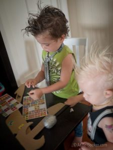 Rockstar Kids Birthday Party - decorate your own guitar