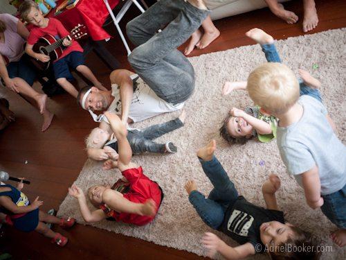 Rockstar Kids Birthday Party - dance party