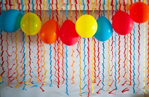 Rockstar Kids Birthday Party easy party backdrop