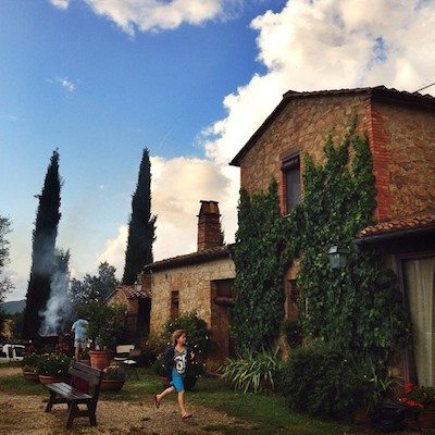 A Tuscan farmhouse - as dreamy as it sounds.