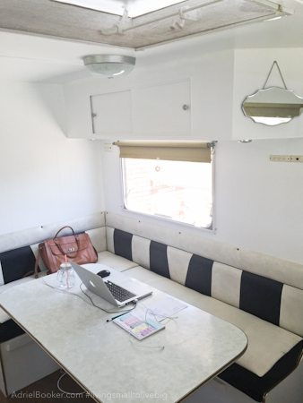Adriel Booker - Living in a Caravan-Camper - dinette/office
