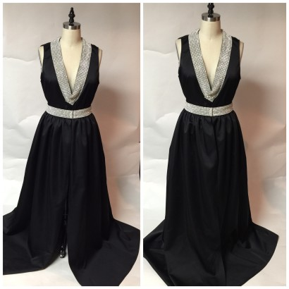 Black Gown with Sparkle Trim