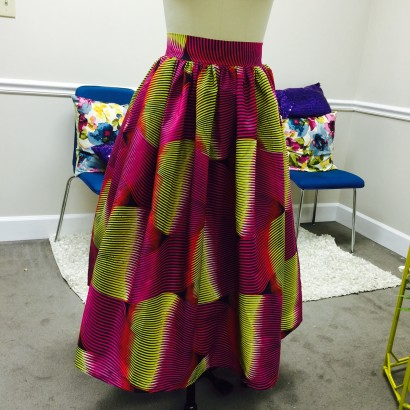 Colorful African Print Skirt
