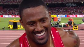 2015 Track and Field World Champs: David Oliver interview