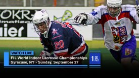 2015 FIL World Indoor Lacrosse Championship: Syracuse, NY: Bronze Medal