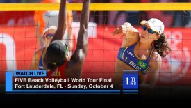 2015 FIVB Beach Volleyball World Tour Finals: Ft. Lauderdale, FL: Women's Gold Medal: Ludwig/Walkenhorst (GER) vs. Larissa/Talita (BRA)
