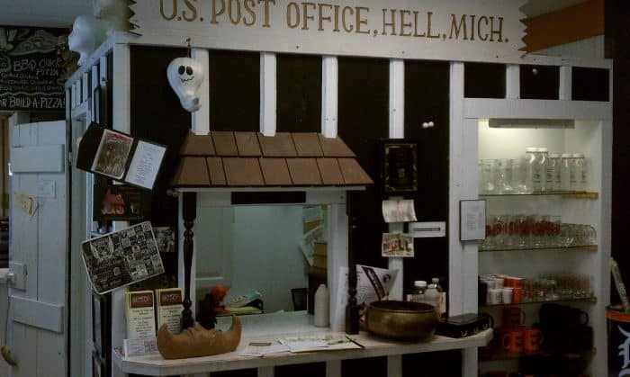 Post office in Hell, Michigan