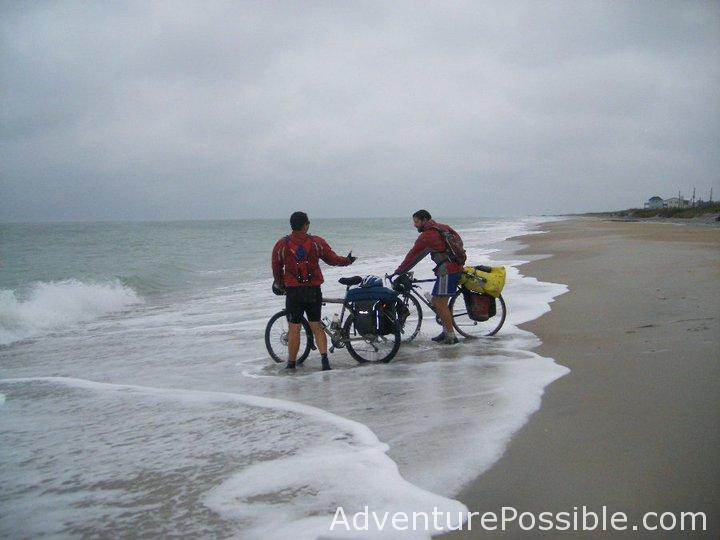 celebrating the end of biking across america