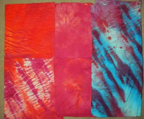 A day of dyeing. Ellen Lindner, AdventureQuilter.com/blog