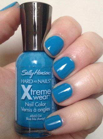 Sally Hansen Hard as Nails Xtreme Wear in Blue Me Away!