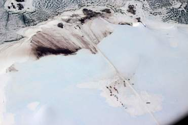 Antarctica base from the air