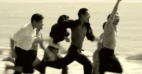 """Taiwan's TC Bank television commercial """"Dream Rangers"""": The group of friends running on the beach when they were young 60 years ago."""