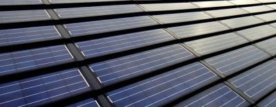 solar roof closeup