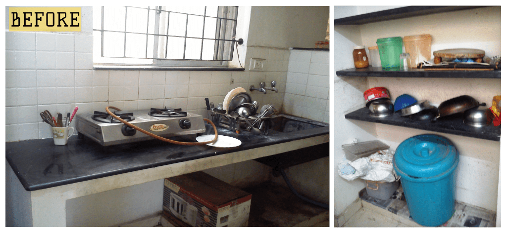 Kitchen + Pantry  Before Remodeling - Aegam Interior Design Chennai