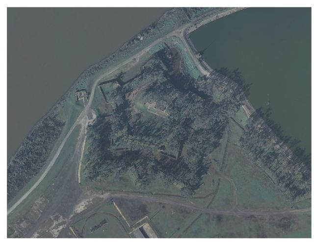 Fort Jackson in Plaquemines Parish, Louisiana (USGS, 2006)