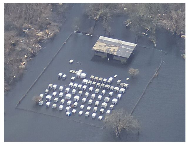 Cemetery in Port Sulphur, Louisiana After Hurricane Katrina (Aero-Data Corporation, 2005)