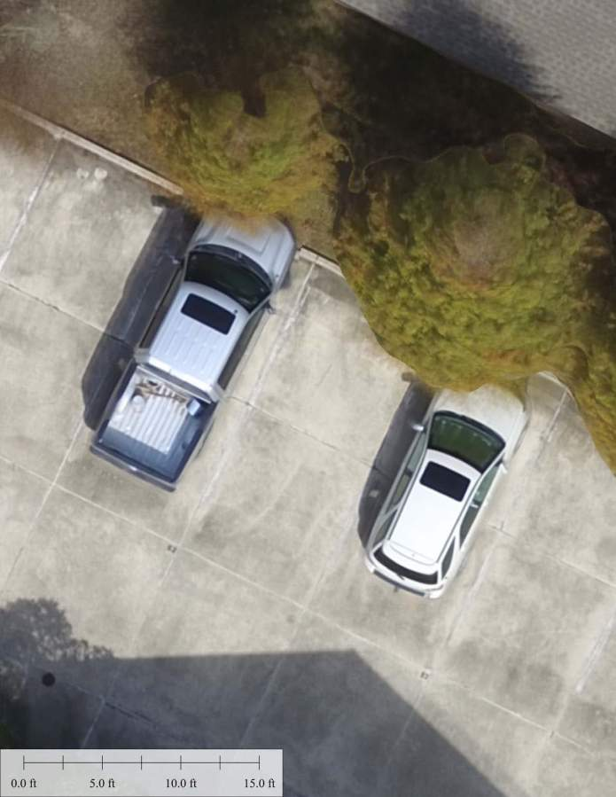 UAV Aerial Photo of Cars in Parking Lot