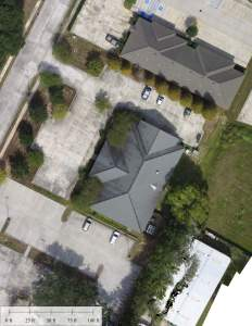 UAV Aerial Photo of Aero-Data's Office Building