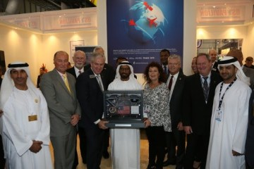 UAE SPACE AGENCY PRESENTED WITH U.S. FLAG THAT FLEW TO THE MOON ON APOLLO 14