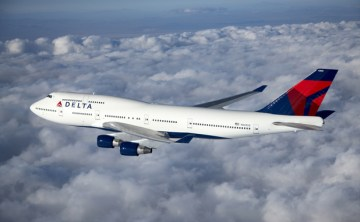 Delta Boeing 747-400 in flight.