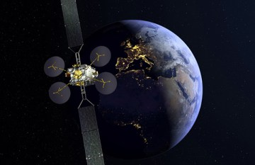 Eutelsat's Konnect satellite, which features the Thales electric propulsion system (Image: Thales Alenia Space)