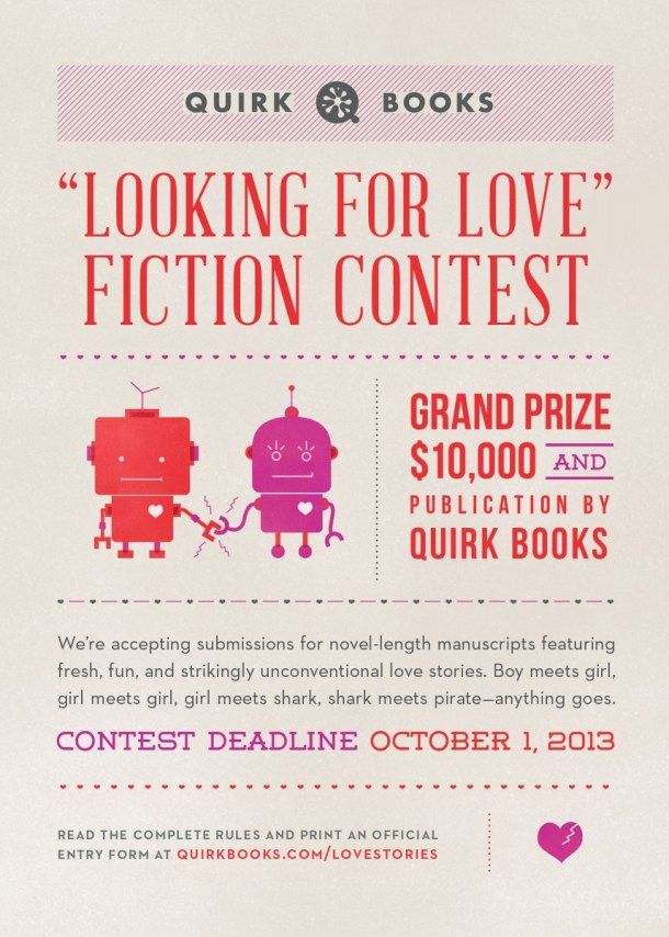 Quirk Books' $10,000 Fiction Contest