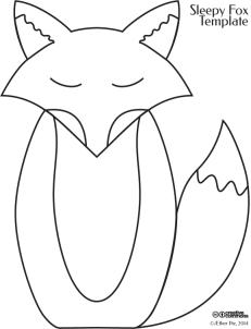 sleepy fox craft template