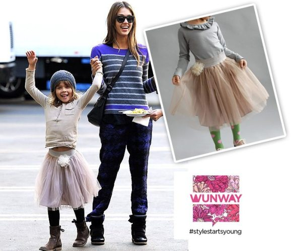 "Honor Warren in the ""Isabella"" tutu skirt from Wunway 