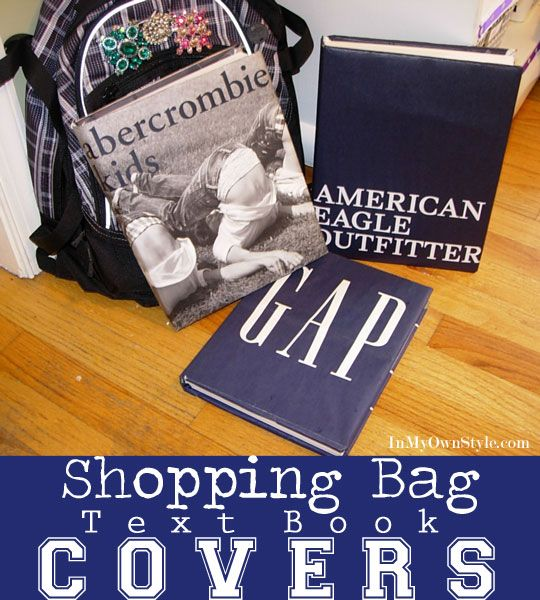 How To Make Shopping Bag Textbook Covers by Diane Henkler  In My Own Style