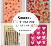 Seasonal Art for Your Walls That You Can Make with Your Kids   AFancyGirlMust.com