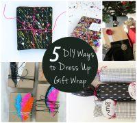 5 DIY Ways to Dress Up Your Gift Wrap  | AFancyGirlMust.com