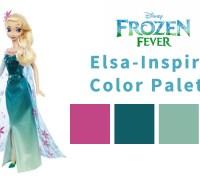 Girls' Winter Birthday Color Themes - Frozen Fever Elsa