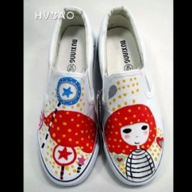 �Waiting� Canvas Slip-Ons