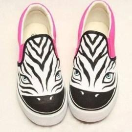 Zebra Print Slip-Ons
