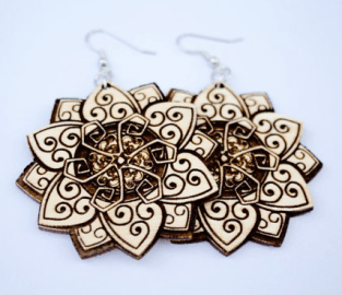 aff mandala earrings