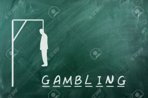 20721752-Hangman-game-on-green-chalkboard-concept-of-gambling-addiction-Stock-Photo