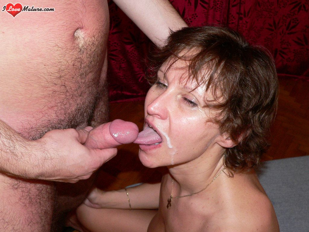 image Granny loves the cum from cocks