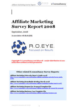 Affiliate Marketing Survey Report 2008