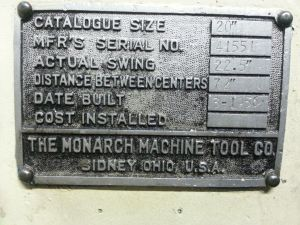 Monarch Metal Lathe 3