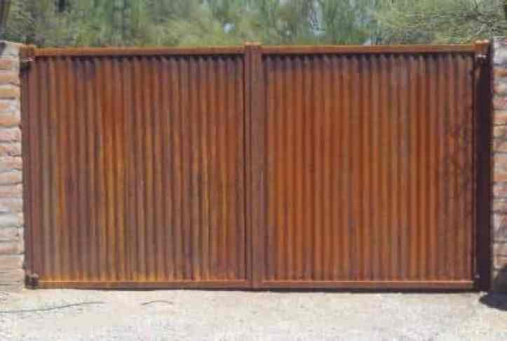 Corrugated Fence And Gates Affordable Fence Gates