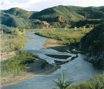 Rio Sonora en Sonora, México.