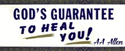 God's Guarantee To Heal You banner
