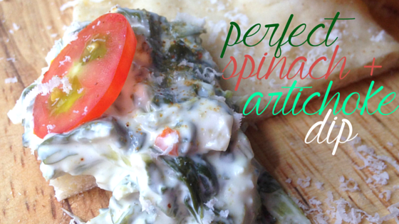 perfect spinach artichoke dip.