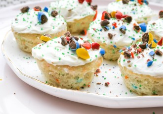 mini funfetti cupcakes | a flavor journal food blog