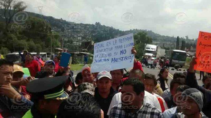 Hubo protestas en varios puntos del valle de Toluca.