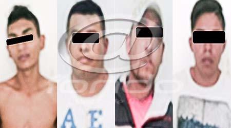 Los delincuentes fueron detenidos en hechos distintos.