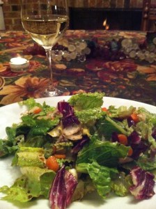 Bittersweet Salad and some great ambiance! (Photo Credit: Adroit Ideals)