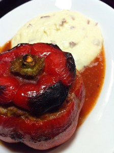 Stuffed Peppers with Mashed Potatoes (Photo Credit: Adroit Ideals)