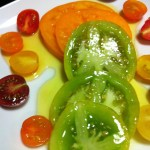 Heirloom Tomatoes with olive oil are fantastic on their own! (Photo Credit: Adroit Ideals)