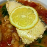 Grilled Fish Fillet over White Bean Stew (Photo Credit: Adroit Ideals)